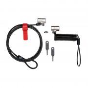 Cablu securitate notebook Kensington ClickSafe Anywhere, otel, 2 incuietori: 1 pentru birou si 1 pentru deplasari (K64661WW)