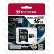 Micro SDHC card + Adapter (16GB class 10) Transcend Premium 400x