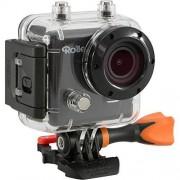 Rollei Actioncam 410 Videocámara de resolución Full HD Video 1080p/60 fps con WiFi integrado (lapso de tiempo vídeo, sumergible hasta 40 m), color negro y naranja