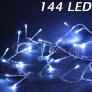 FDL LED Lichterkette mit 3mm kleinen LED transp. Kabel kaltw. 144 LED