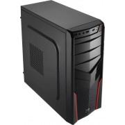 Carcasa PGS V2X, MiddleTower, negru/ rosu, fara sursa
