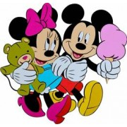 Decoratiune Din Burete Copii MyKids Mickey Si Minnie SRMK-0015