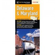 Universal Map Delaware/Maryland Large Print Fold Map (Set of 2) 14480