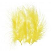 Marabou Feathers .25 Ounces-Yellow