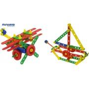 Miniland 32650 - Costruzioni Mecanico, 80 pezzi di colore diverso (cofanetto con 191 pezzi)
