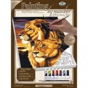 Royal & Langnickel PCS3 Séries Peinture d'après les chiffres Toile d'artiste Lion/Lionne Petit