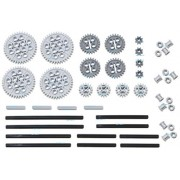 LEGO 46pc Technic gear & axle SET (Works with Mindstorms NXT, EV3, Bionicles and more LEGO creations