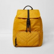 River Island Mens Mustard Yellow backpack