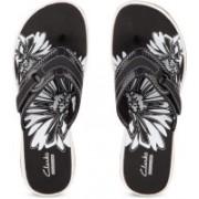 Clarks Brinkley Mila Black Synthetic Slippers