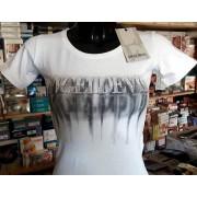 Angel Devil T-shirt donna Angel Devil girocollo con stampa logo e strass