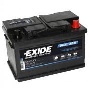 Exide EP600 DUAL AGM 12V 70Ah 600Wh 760A munkaakku és indítóakku