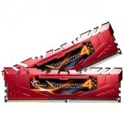 Memorie G.Skill Ripjaws 4 Red 8GB (2x4GB) DDR4 2400MHz CL15 1.2V Intel X99 Ready XMP 2.0 Dual Channel Kit, F4-2400C15D-8GRR