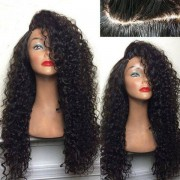 rosegal Long Deep Side Part Shaggy Kinky Curly Synthetic Wig