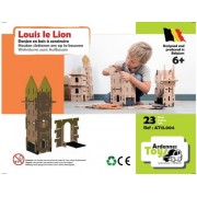 Louis le Lion: Tour et pont Levis Ardennes Toys, 23 pieces