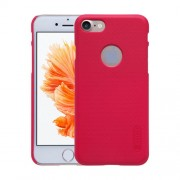 NILLKIN Frosted Shield for iPhone 7 Concave-convex Texture PC Protective Case Back Cover(Red)