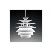 Lámpara de diseño colgante con tulipa blanca de 40 cms de diámetro