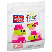 Mega Bloks First Builders 8 Piece Pink and Green Set by Mega Brands
