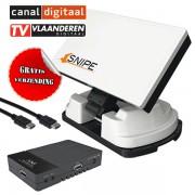 Selfsat SNIPE automatische schotel / Sab Titan Micro SE HD satellietontvanger