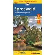 Fietskaart ADFC Regionalkarte Spreewald, Berliner Seengebiet   BVA