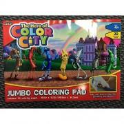 Hero of Color City Jumbo Coloring Pad
