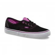 Shoes Vans Authentic Clear Eyelets Black / Radiant Orchid