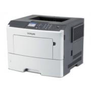 Mono Laser Printer Lexmark MS610dn - Duplex; A4;A4; 1200x1200 dpi; 47 ppm; 256 MB; capacity: 650 sheets; USB; Gigabit LAN; 2.4''colour LCD 35S0430
