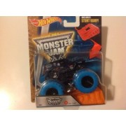 Hot Wheels 1:64 Monster Jam Son-Uva Digger With Blue Treads #02 Includes Stunt Ramp