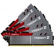 Memorie G.Skill Trident Z 64GB (4x16GB) DDR4 3000MHz 1.35V CL14 Dual Channel, Quad Kit, F4-3000C14Q-64GTZ