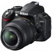 Aparat Foto D-SLR NIKON D3100 (Negru) cu Obiectiv 18-55mm VR, Filmare Full HD