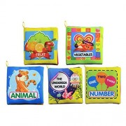 5 Pcs Baby Cloth Books Toy Intellectual Development Fabric Book for 1-3 Year Old Babies Includes The Undersea...