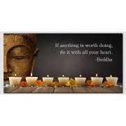 Schilderij Buddha Led - With all your Heart