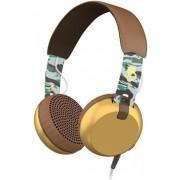 Casti SkullCandy Grind Scout Camo, Jack 3.5mm, Microfon (Maro/Auriu)
