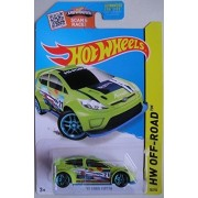 Hot Wheels, 2015 HW Off-Road, '12 Ford Fiesta [Neon Green] Die-Cast Vehicle #78/250 by METAL