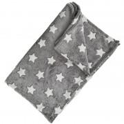 Grijze kinder deken met sterren