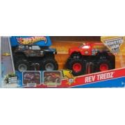 Hot Wheels Double Rev Tredz Set Grave Digger & Backdraft Scale 1:43 by Mattel