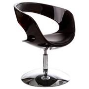 Design draaistoel 'SPACE' uit zwart imitatieleder met zwarte zitschaal