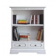kleines Bücherregal Weiß patiniert