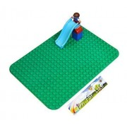 Lego Duplo (Big Dot) Compatible Brick Building Base 15 X 10 Green Baseplate By Fun For Life