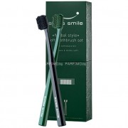 Swiss Smile Soft Toothbrush Kit Unisex - 1бр Sensitive-Soft Toothbrush Black + 1бр Sensitive-Soft Toothbrush Green Четки за чувствителни зъби