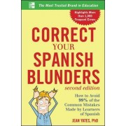 Correct Your Spanish Blunders by Jean Yates