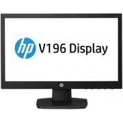 "Monitor LED HP 18.5"" V196, HD Ready (1366 x 768), VGA, DVI-D, 5 ms, Boxe (Negru) + Lantisor placat cu aur cu pandantiv in forma de lup de mare"