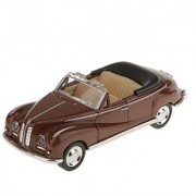 Magideal Pull Back Model Classic Convertible Car Educational Toy Kids-Brown