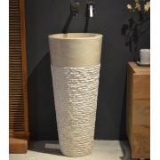 Walk Vasque colonne en marbre beige