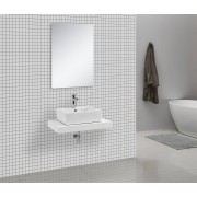 Waschtischkonsole CADENA 75 x 50 cm, Echtholz (hochglanz-wei�)