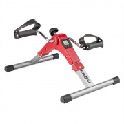 Klarfit Spinmin Pro Mini Bike Arm- und Bein-Pedaltrainer Display faltbar rot