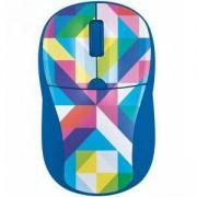 Мишка TRUST Primo, Wireless, 1000-1600 DPI, Вlue geometry, 21480