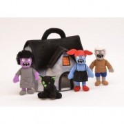 Plush Zombie House With 3 Zombies & 1 Zombie Pet