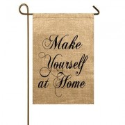 TheWatsonShop Make Yourself at Home Garden Flag GARFLAG_MAKEHOMEBLK