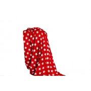 Sac rouge Star Snuggle Couverture en laine polaire corail, rouge et blanc)