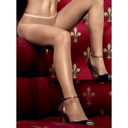 Baci Champagne Net Pantyhose with delicate Crochet Design 1180